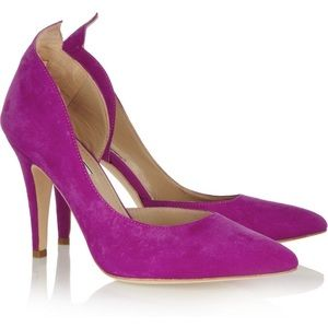 By Malene Birger Suede Violet Pointed Toe Pumps